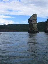 Three Brothers Rocks. Avacha Bay